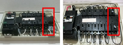 電源線の分岐と敷設し、分電盤に空きスペースがない場合は分電盤の増設か屋外開閉器を設置します。