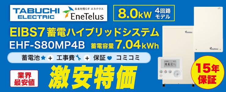 田淵電機 EIBS7 蓄電ハイブリッドシステム 8.0kW 7.04kWh