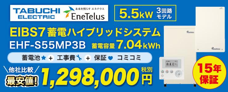 田淵電機 EIBS7 蓄電ハイブリッドシステム 5.5kW 3回路モデル 7.04kWh